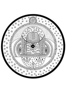 Indian cosmic spheres mandala