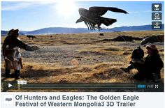 Great head start for 3DGuy this 2013! One of its recent 3D documentary film, Of Hunters & Eagles: The Golden Eagle Festival of Western Mongolia, has been one of the officially selected few for the IMAX AWARDS Contest this year....