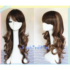 75CM Long Brown Ombre Color Beautiful Lolita Wig, Anime Costume Wigs... ($27) ❤ liked on Polyvore