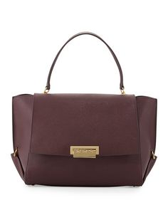 Eartha+Saffiano+Flap-Top+Satchel+Bag,+Vineyard+by+ZAC+Zac+Posen+at+Neiman+Marcus. $331