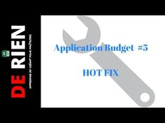 5B Application de budget Excel HOT FIX | Tutoriel Excel - DE RIEN  #application #budget #excel