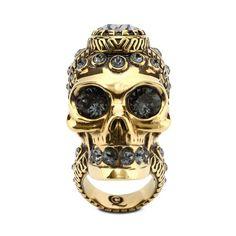 c20bf60ed82da8 Victorian Jeweled Skull Ring Alexander Mcqueen Ring