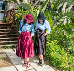 Black and Maroon midi satin skirts from CultureCut Port Elizabeth, Satin Skirt, Skirts, Black, Fashion, Moda, Black People, Fashion Styles, All Black
