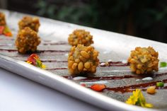 Coriander Groups' Indian canapes, Hors d'oeuvre  - Savoury Boondi Ka Ladoo