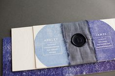 Oh So Beautiful Paper: Ashley + James's Chambray and Citrus Wedding Invitations