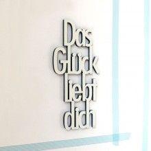 """""""Das Glück liebt dich"""" 3D Schriftzug by NOGALLERY"""