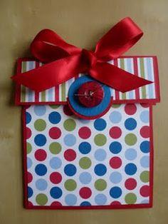 Crafty ThINKer: Parcel Gift Card Holder!