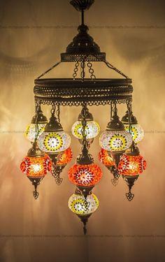 Moroccan Chandelier, Moroccan Lighting, Moroccan Lamp, Hanging Chandelier, White Chandelier, Turkish Lanterns, Turkish Lamps, Boho Gypsy, Bohemian Style