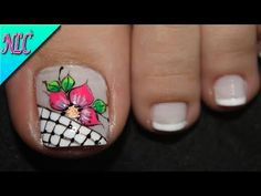 Nail Art, Nails, Beauty, Pedicures, Youtube, Toenails, Nail Colors, Nail Art Flowers, Simple Toe Nails