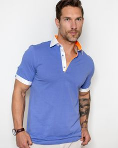 Royal blue polo shirt for men by Maceoo