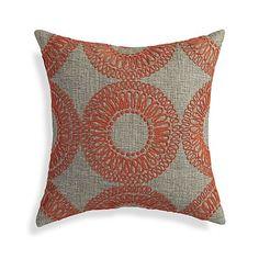 "Gracie Orange 18"" Pillow  | Crate and Barrel"
