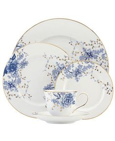Lenox Dinnerware, Garden Grove 5 Piece Place Setting - Fine China - Dining & Entertaining - Macy's $130