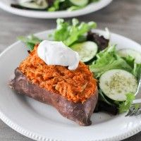"I made these this week, so easy & five stars (at least) for taste!  ""Twice Baked Loaded Sweet Potatoes"""