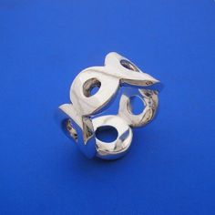 Silver O Circle Hug Ring , Hand Made Solid Silver , Jewellery , Jewelery - by ijewellery on madeit