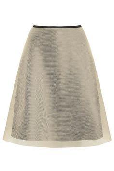 Topshop   Full A-Line Airtex Skirt
