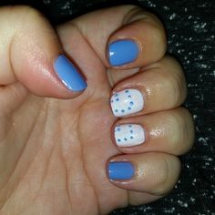 Pale Blue with Pretty Polka Dots