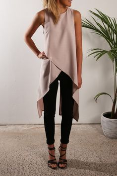 Asymmetric Cross Tank Tops Chiffon Vest Women Fashion Summer Top E089