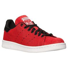 buy online a76c5 2a5f6 Nuovo Adidas Stan Smith Weave Rosso Nero-Bianco Scarpe