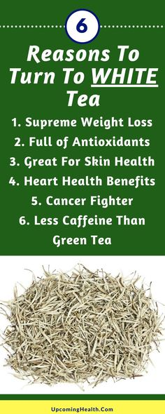 Whilst many people are aware of green tea for it's range of benefits, including helping with weight loss and also black tea and all it's health benefits, white tea seems to have gone under the radar....