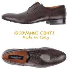 $625 CREAZIONI GIOVANNI CONTI CALFSKIN SHOES. HANDMADE IN ITALY. SZ UE43/US10 M #GiovanniConti #Oxfords