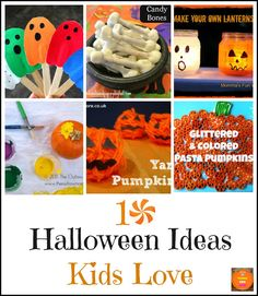 Find out how to make these easy 10 Halloween Ideas Kids Love. Great Halloween crafts for kids or Halloween crafts for toddlers. Great Halloween craft ideas. Pin it