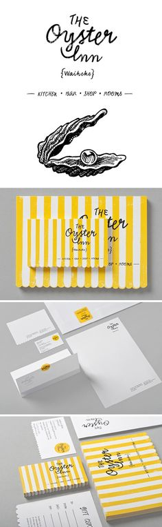 The Oyster Inn Identity & branding Collateral Design, Brand Identity Design, Corporate Design, Branding Design, Logo Design, Business Branding, Logo Branding, Creative Logo, Brand Packaging