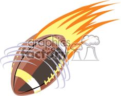 Cartoon of Flaming spiral football vector clip art image number Image formats available GIF, JPG, PNG and printable EPS, SVG. Football Clip Art, Football Clips, Spiral, Graphics, Graphic Design, Printmaking