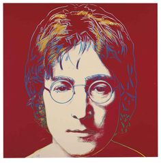 Andy Warhol (American, 1928-1987), John Lennon, 1985-86. Synthetic polymer and silkscreen inks on canvas, 101.9 x 101.9 cm.Andy Warhol Ideas More Pins Like This At FOSTERGINGER @ Pinterest