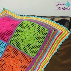 Four Points Star Blanket - Crochet creation by JessieAtHome