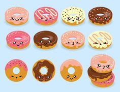 Esta imagem é uma boa escolha para capinha de celular! #kawaii❤️. #donuts
