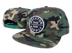 dfae1e7b81e3b Brixton Trade Mark Supply Snapback Hats Camo 6717! Only  8.90USD