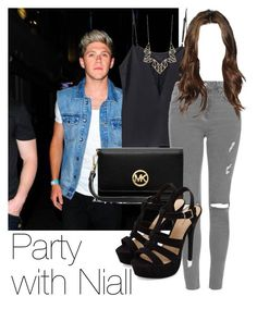 """""""Requested: Party with Niall"""" by style-with-one-direction ❤ liked on Polyvore featuring mode, Topshop, Panacea, MICHAEL Michael Kors, OneDirection, 1d, NiallHoran en niall horan one direction 1d"""