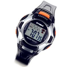 Lancardo Black Boys Kids LED Sports Digital Watch for Children Girls Boys with Gift Bag. 100% Brand new + One velvet gift bag. Unique design + High quality Resin and Silicon material. Adjustable comfortable band. Time, date, week, alarm clock, stopwatch, LED backlight. Withstands rain and splashes of water, but not showering or submersion.