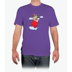 Flying Ace Santa Snoopy - Men T-Shirt