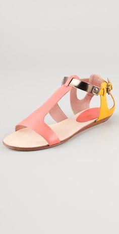 Rebecca Minkoff // Bardot Colorblock Flat Sandals (via Creature Comforts)