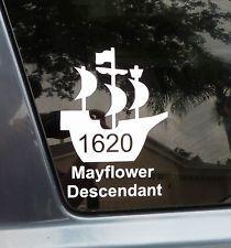 Revolutionary war descendant decal gold glitter plus free for Mayflower car shipping