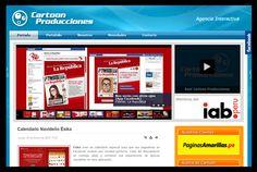 ..:: CARTOON PRODUCCIONES INICIA EL AÑO CON SU SITIO WEB | Noticias - Mercado Negro.pe::..