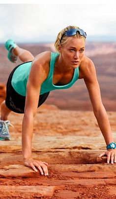 raised leg push ups -- I think I did about 3 sets of these yesterday.. LOVE the burn!