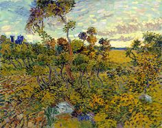 """The New Van Gogh Painting """"Sunset at Montmajour"""" (Arles, 1888) : Fine Art Print.  Unveiled and declared an official Van Gogh on Sept. 9th 2013. Read more: http://www.vangoghsunflowers.com/projects/new-van-gogh-painting-sunset-montmajour-arles-1888/"""
