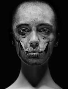 """Juxtapoz Magazine - Skull Portraits: """"Intuition"""" by Carsten Witte (NSFW) Foto Picture, Face Photo, Growth And Decay, Skull Face, Skull And Bones, Art Plastique, Light In The Dark, Just In Case, Portrait Photography"""