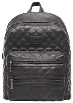 2f000dea5d Infant The Honest Company City Quilted Faux Leather Diaper Backpack - Black  {affiliate link}