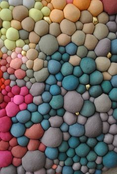 When it comes to patience and perseverance, Serena Garcia Dalla Venezia has both qualities in spades. The Chilean textile artist crafts handmade fabric balls in a rainbow of different colours and textures...