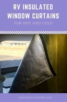 RV Insulated Window Curtains – Keep your RV a comfortable temperature with insulated curtains. They'll upgrade the look of the interior too! Rv Camping, Camping Hacks, Camping Ideas, Glamping, Camping Stuff, Stealth Camping, Camping Guide, Camping Supplies, Camping Essentials