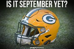 Why does the football offseason take so long to go by? We just want football to be here already! Packers Baby, Go Packers, Green Bay Packers Fans, Packers Football, Best Football Team, Football Baby, Football Memes, Sport Football, National Football League