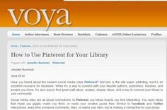 """via VOYA - How to Use Pinterest for Your Library ... also, Just realized that pinterest.com does not recognize the word """"Pinterest"""" as being spelled correctly."""