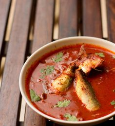 Goan Fish Ambotik Curry recipe is a spicy and tangy curry. The word ambot means sour and tik means spicy. this is step by step recipe to make ambotik. Goan Recipes, Veg Recipes, Spicy Recipes, Curry Recipes, Seafood Recipes, Indian Food Recipes, Cooking Recipes, Ethnic Recipes, Cooking Fish