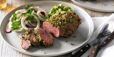 Try this Herb & Pistachio Crusted Mini Lamb Rump recipe by Chef Hayden Quinn . This recipe is from the show The Dinner Project.