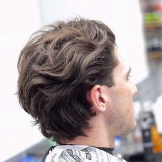Medium length taper cuts for wavy hair men Mens Medium Length Hairstyles, Medium Length Hair Men, Thick Hair Styles Medium, Medium Long Hair, Medium Hair Cuts, Short Hair Styles, Mens Hair Medium, Man Bun Styles, Medium Cut