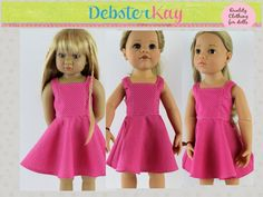 Geometry Class Dress - Doll Clothes to fit Kidz n Cats, Gotz Happy Kidz, Gotz Hannah Doll or similar 18 inch dolls D42 by Debsterkay on Etsy https://www.etsy.com/listing/253244884/geometry-class-dress-doll-clothes-to-fit