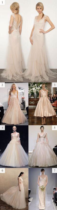 Vestidos de novia con colores piel o también llamados Blush #VestidosDeNovia